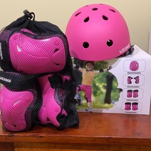 7 Piece Full Protective Set in Pink - New